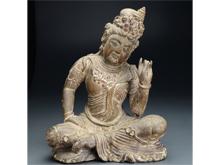 木製弥勒菩薩座像