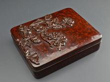 鎌倉彫 桑 硯箱