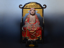 木製達磨大師座像
