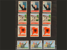中国切手 アルバニア労働党30周年 4種完