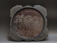 唐木彫刻盆