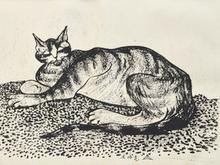 シャム猫 絵画