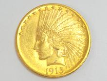 アメリカ1915年10ドル金貨