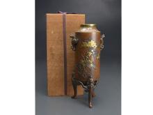 明治期金銀象嵌花瓶