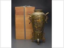明治期金銀象嵌銅壺