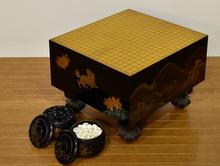 蒔絵 大名囲碁盤 碁笥